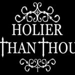 Holier than thou image